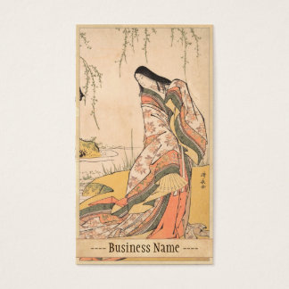 Kanjo Torii Kiyonaga裁判所女性日本人の美しい 名刺