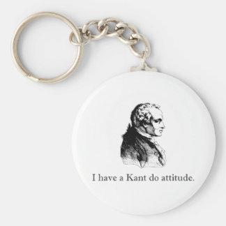 Kantは態度をします キーホルダー