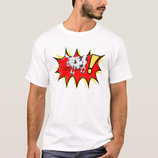 KAPOWのスターバストの牛 Tシャツ
