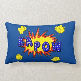 Kapowのスーパーヒーローの喜劇的な行為の単語 ランバークッション