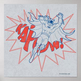 KAPOW! バットマンのグラフィック ポスター