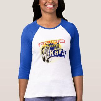 Karaの女性の3/4本の袖との正午 Tシャツ