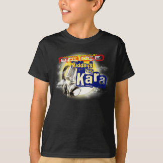 Karaの子供の黒いTシャツとの正午 Tシャツ
