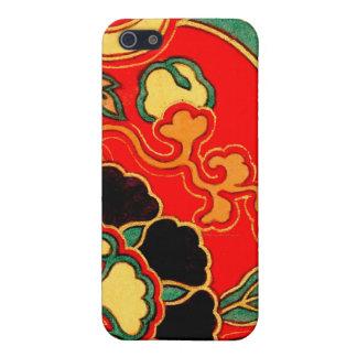 Kara Nishikiの赤く中国のなブロケード1825年 iPhone 5 ケース