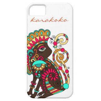 Karakokoのファッション猿のiPhoneの場合のきのこブラウン iPhone SE/5/5s ケース