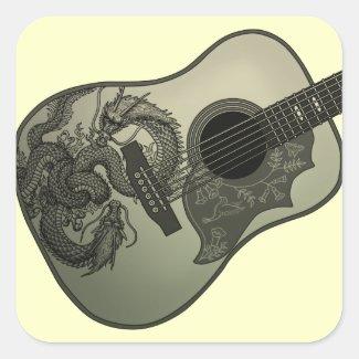 Karami ryuu guitar 1 シール・ステッカー