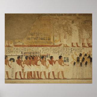 Karnakの寺院ルクソル、エジプト ポスター