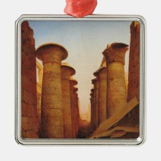 KarnakのAmunの素晴らしい寺院 メタルオーナメント