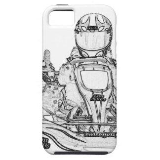 Kartのレーサーの鉛筆のスケッチ iPhone SE/5/5s ケース