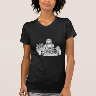 Kartのレーサーの鉛筆のスケッチ Tシャツ