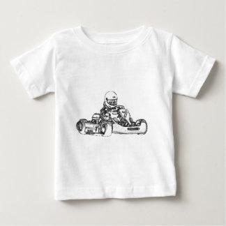 Kartの競争の鉛筆のスケッチ ベビーTシャツ
