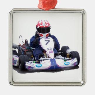 Kartの競争 メタルオーナメント