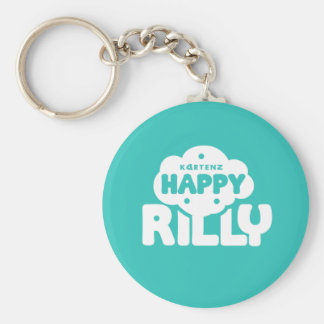 Kartenz幸せなRillyの基本的な円形ボタンのキーホルダー キーホルダー