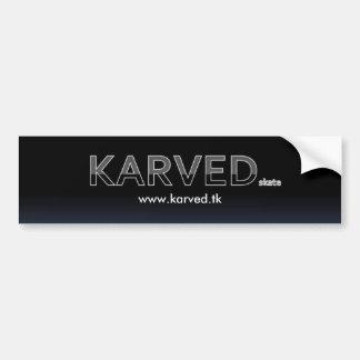 KarvedのブランドのスケートボードBumper/TAGのステッカー バンパーステッカー