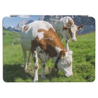 Karwendel山2の高い牧草地の牛 iPad Air カバー