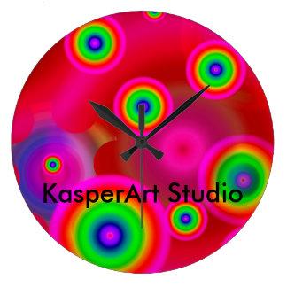 KasperArtのスタジオの破裂音の時計 ラージ壁時計