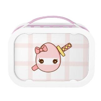 Katanaのかわいいピンクの忍者の卵 ランチボックス