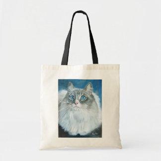 Kate MarrのバッグによるRagdoll猫の油絵 トートバッグ