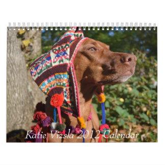 Katie Vizsla 2012のカレンダー カレンダー