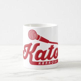 Katoのカラオケのロゴ コーヒーマグカップ
