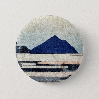 KatsushikaのHokusaiの浮世絵著Chiryu 5.7cm 丸型バッジ