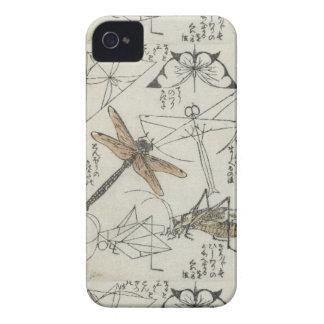 Katsushika Hokusaiの昆虫 Case-Mate iPhone 4 ケース