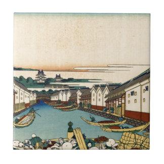 Katsushika Hokusai著江戸のNihonbashi橋 タイル