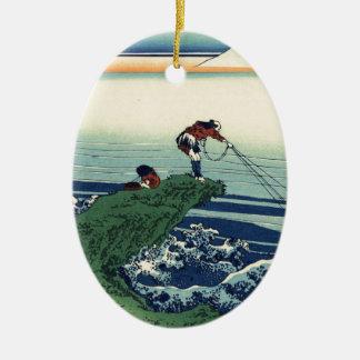 Katsushika Hokusai著甲斐国の鰍沢町 セラミックオーナメント