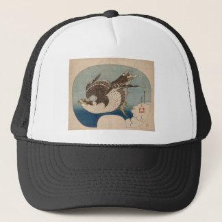 Katsushika Hokusai著《鳥》ハヤブサ飛行中に キャップ