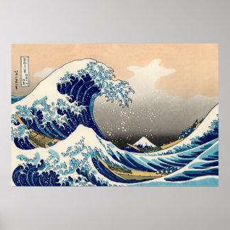 KATSUSHIKA HOKUSAI -神奈川を離れた素晴らしい波 ポスター