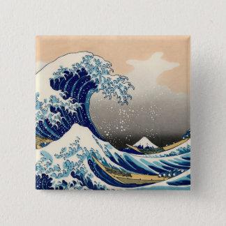 KATSUSHIKA HOKUSAI -神奈川を離れた素晴らしい波 缶バッジ
