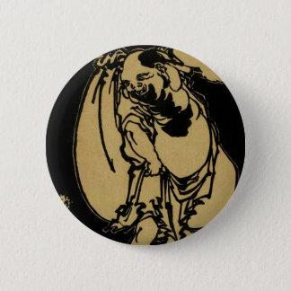 Katsushika、Hokusai Ukiyo-e著Hotei 缶バッジ
