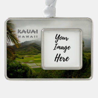 Kauai Hawaii Landscape Photography シルバープレートフレームオーナメント