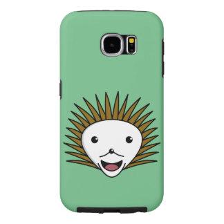 Kawaiの幸せなハリネズミ Samsung Galaxy S6 ケース