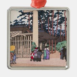 Kawase Hasuiの神道の建築のMeijiの神社の芸術 メタルオーナメント