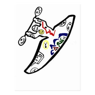 Kayakiは直面します ポストカード