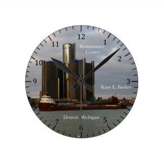Kaye E. Barkerデトロイトのcolck 壁時計