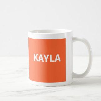 Kaylaのオレンジ名前 コーヒーマグカップ