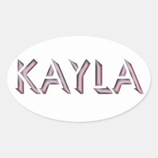 Kaylaのステッカーの名前 楕円形シール