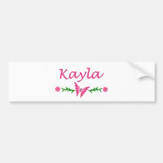 Kayla (ピンクの蝶) バンパーステッカー