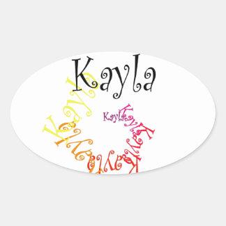 Kayla 楕円形シール