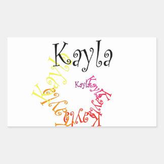 Kayla 長方形シール