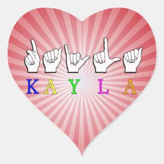 KAYLA FINGERSPELLEDの一流の印ASL ハートシール