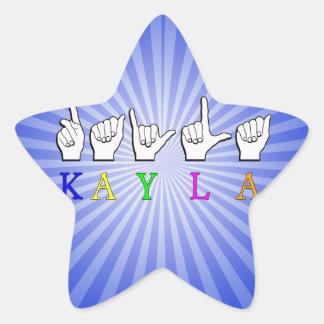 KAYLA FINGERSPELLEDの一流の印ASL 星シール