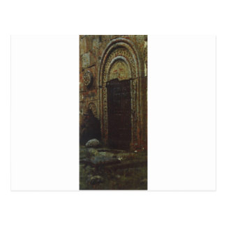 Kazbekの下の教会への出入口 ポストカード