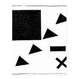 Kazimir著三角形を使用してSuprematicのグループ ポストカード