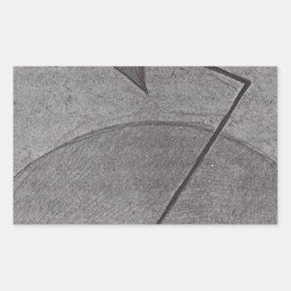 Kazimir Malevich著宇宙から 長方形シール