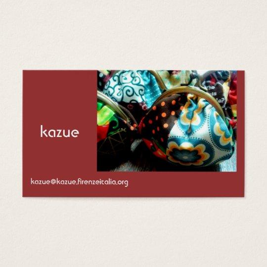 kazue 名刺