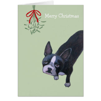 KAZUMIによる犬の絵画のクリスマスカード グリーティングカード