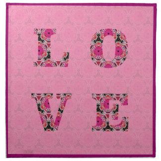 KCSによって置かれるピンクパターンナプキンの愛 ナプキンクロス